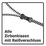 Gesundheitskissen.at Zirbenkissen (20x30cm) | weinrot kariert