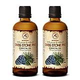 Zirbelkieferöl 2x100ml - 100% Natürliche & Reines Ätherisches Zirbenöl 200ml - Pinus Cembra - Zirben Öl für Sauna - Aromatherapie - Aroma Diffuser - Naturreines Öl aus der Zirbe - Arvenöl