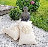 Zirbenkissen Blume des Lebens mit Inlett 30x50 cm befüllt mit Zirbenspänen aus 100% Alpen Zirbenholz